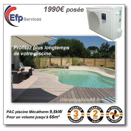 Nos climatisations prix cass for Tarif piscine enterree posee